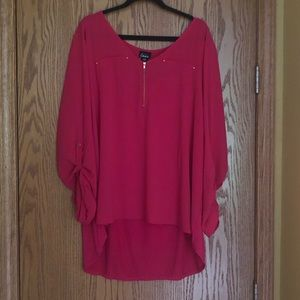 NWT Simply Emma 3x xxxl 3xl pink tunic
